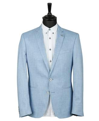 Remus Uomo Pinstriped Jacket Colour: BLUE, Size: 38