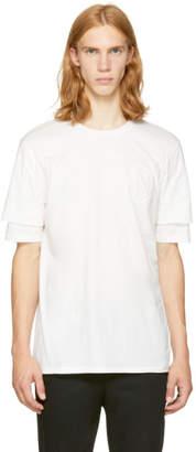 3.1 Phillip Lim White Double Sleeve T-Shirt