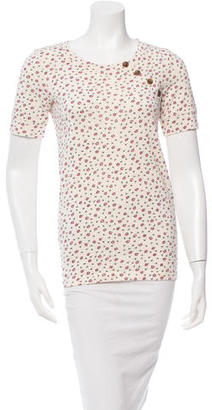 Marc by Marc Jacobs Short Sleeve Floral Top $45 thestylecure.com