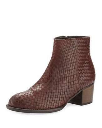 Andre Assous Kaycee Woven Leather Bootie, Cognac $295 thestylecure.com