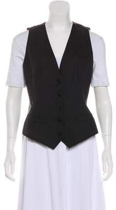 Dolce & Gabbana Wool-Blend Button-Up Vest