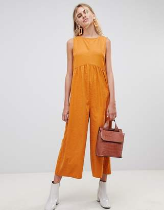 Asos Design DESIGN minimal jumpsuit with ruching detail