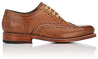 Grenson WOMEN'S ROSE LEATHER WINGTIP BALMORALS