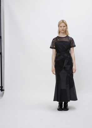 Junya Watanabe black patch long dress $1,563 thestylecure.com