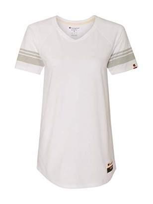 Champion Women's Authentic Originals Triblend Varsity Short Sleeve Tee