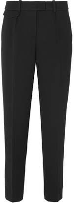 Giorgio Armani Crepe Slim-leg Pants - Black