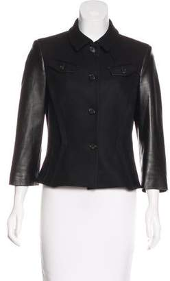 Michael Kors Wool Leather-Accented Jacket