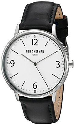 Ben Sherman (ベン シャーマン) - ベンシャーマンMen 's ' Portabelloカジュアル' QuartzステンレススチールandレザーAutomatic Watch , Color : Black ( Model : wb023ba )