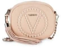 Valentino Embellished Leather Crossbody Bag