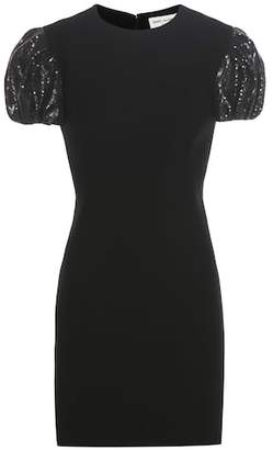 Saint Laurent Sequinned crêpe dress