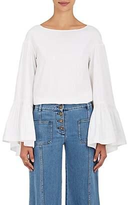 Teija Women's Cotton Bell-Sleeve Blouse