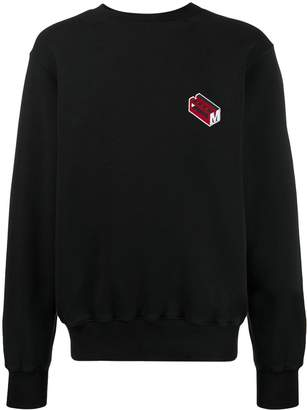 Marni logo embroidered sweatshirt