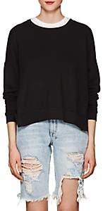 NSF Women's Rubin Side-Snap Cotton Sweatshirt-Black