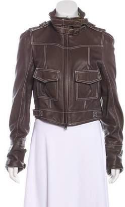Diane von Furstenberg Leather Bonbon Jacket