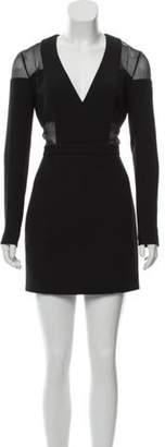 Balmain Structured Mini Dress Black Structured Mini Dress