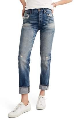 Madewell Selvedge Distressed Straight Leg Jeans