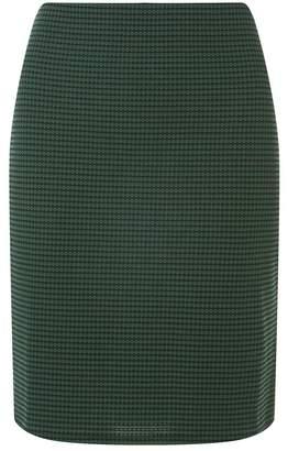 Dorothy Perkins Tall Green Black Geometric Checked Mini Skirt