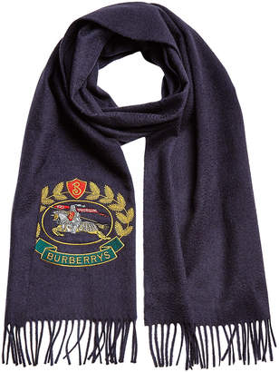 Burberry Cashmere Scarf with Archive Logo