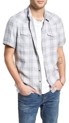 Treasure & Bond Plaid Short Sleeve Sport Shirt