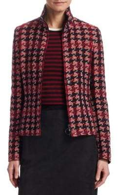 Akris Punto Tweed Houndstooth Jacket