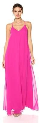 Nicole Miller Women's V-Neck Spaghetti Strap Long Maxi Party Dress, 2
