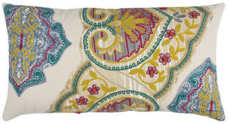 """Rizzy Home Yellow 14"""" X 26"""" Floral Poly Filled Pillow"""