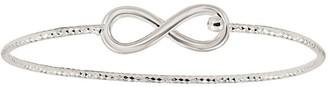 Sterling Diamond-Cut Bangle by Silver Style