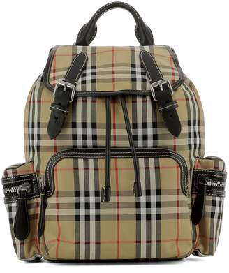 Burberry Beige Cotton Backpack