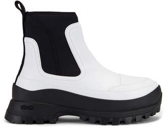 Stella McCartney Ankle Boots in White & Black | FWRD