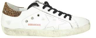 Golden Goose Superstar Sneakers In Leather With Perforated Star