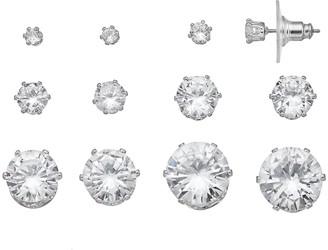 Vera Wang Simply Vera Simulated Crystal Stud Earring Set