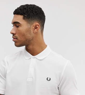 Fred Perry Slim Fit Plain Polo in White