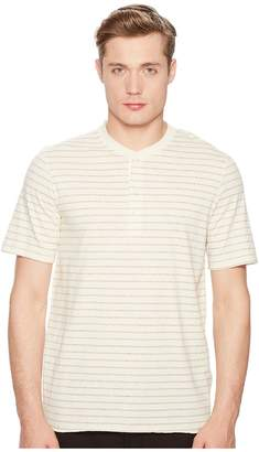 Billy Reid Short Sleeve Striped Henley Men's Clothing