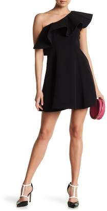 Helena Few Moda One Shoulder Asymmetrical Ruffle Dress