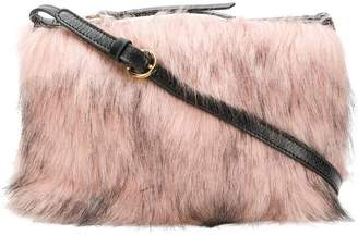 L'Autre Chose faux fur clutch bag