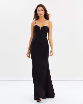 Morganite Bustier Crepe Gown