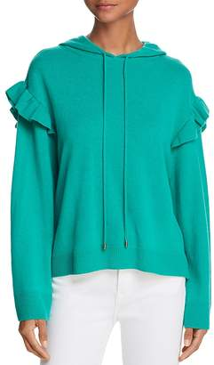 Joie Pammeli Wool-Cashmere Hooded Sweater
