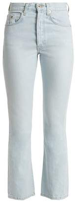 Eve Denim - Jane High Rise Straight Leg Cropped Jeans - Womens - Light Blue