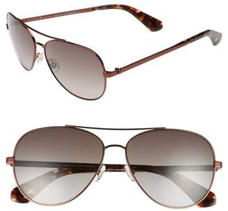 Kate Spade Avaline 58mm Aviator Sunglasses