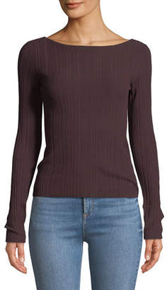 Theory Ribbed Long-Sleeve Sweater