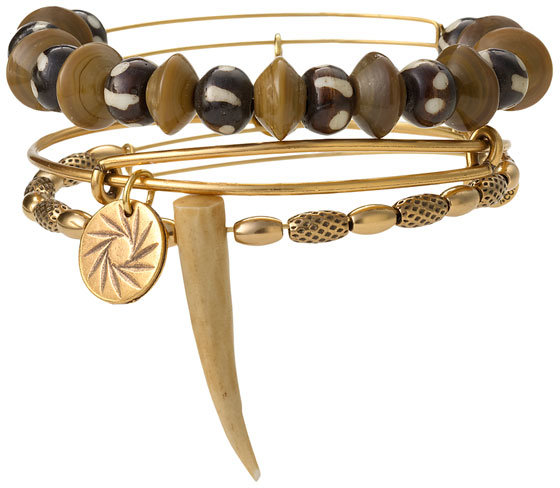 Alex and Ani Wood Spike Stacking Bangles (Set of 3)