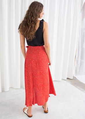 Asymmetric Wrap Midi Skirt
