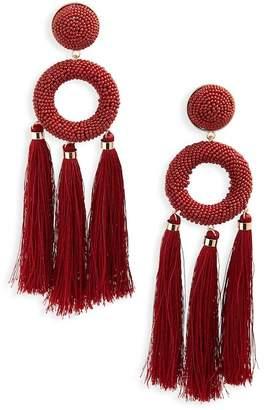 Natasha Accessories Seed Bead Tassel Earrings