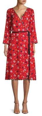 Marc Jacobs Floral-Print Silk Wrap Dress