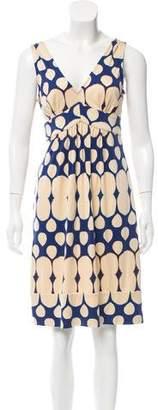 Diane von Furstenberg Sleeveless Printed Silk Dress