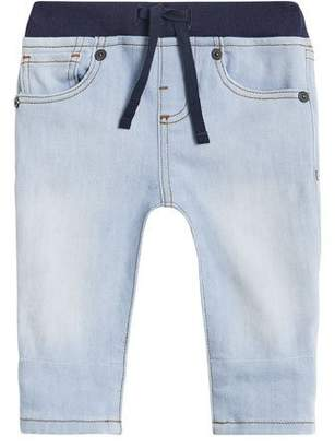 Burberry Relaxed Denim Jeans w/ Check Cuffs, Size 6M-2