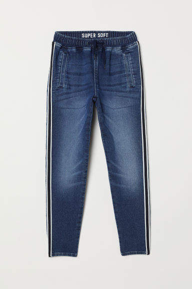 H&M - Super Soft Denim Joggers - Blue