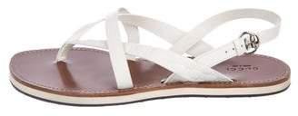 Gucci Microguccissima Leather Sandals