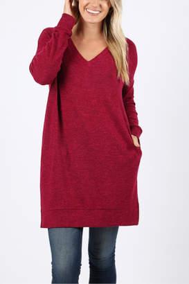 Melange Home Z Brushed Long Sweater