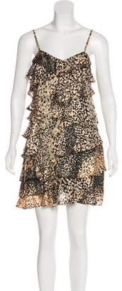 Rachel Zoe Animal Print Ruffle Dress w/ Tags